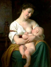 Huhues Merle 1823 - mother and child